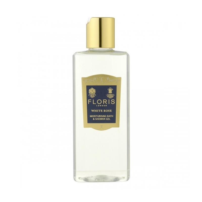 White rose shower gel 250 ml Floris London è un doccia schiuma a base di olio di oliva