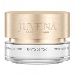 Phyto-de-tox  di Juvena è una crema detossinante con azione rivitalizzante particolarmente indicata su pelli stanche.