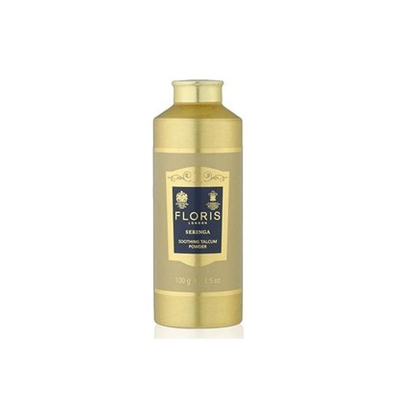 Seringa Talcum 100 g di Floris London è un talco miscelato a base di aloe vera